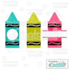 .75 cents Whole+Split+Monogram+Crayons+SVG+Cut+File+&+Clipart