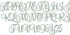 2 and 3 inch Embroidery Font Interlocking Vine by HerringtonDesign
