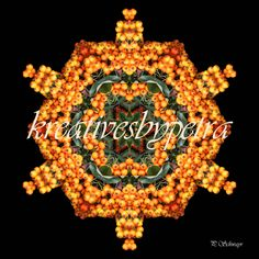 "Mandala ""orange Beeren""  kreativesbypetra Mandala Orange, Mandala Art, Petra, Christmas Ornaments, Holiday Decor, Home Decor, Mandalas, Berries, Mosaics"