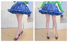 Making a ruffly [cupcake shaped] petticoat + skirt