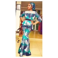 Ankara is getting trendier every moment we must confess! These unique prints are being used gorgeously and we can't just talk our eyes off just because we are guilty of… African Print Dresses, African Fashion Dresses, African Dress, Fashion Outfits, African Outfits, African Attire, African Wear, African Women, Kente Styles