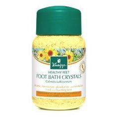 Kneipp Kneipp Calendula Rosemary Foot Bath Crystals - 17.6 fl oz by Kneipp. $16.00. Trace minerals found in the brine of salt soothe, comfort, and refresh. Kneipp Calendula - Rosemary Foot Bath Crystals are designed specifically to stimulate and rejuvenate tired aching muscles and skin. Long days and environmental stress can lead to restless and fatigued legs and feet. Long days and environmental stress can lead to restless and fatigued legs and feet. Kneipp Calendula - Rosemary...