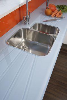 Deco Glaze toughened glass 19mm worktop