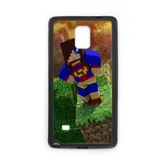 Case for Samsung Galaxy Note 4 Minecraft Superman