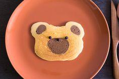 くまの絞り出しパンケーキ|レシピブログ