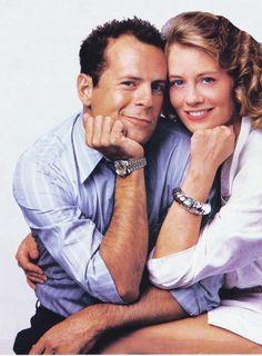 """Bruce Willis & Cybill Shepherd in """"Moonlighting"""""""