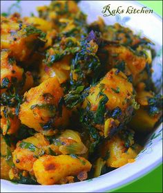 Aloo Methi - good (use yukon gold potatoes, russet tends to be starchy)
