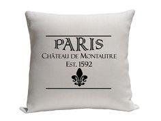 Paris Pillow with fleur de lis