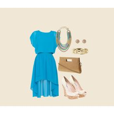 Pretty blue with Stella & Dot jewelry