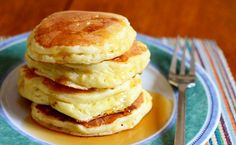 Light & Fluffy Lemon Ricotta Pancakes Recipe Really nice recipes. Every hour. Beignets, Lemon Ricotta Pancakes, Pancakes And Waffles, Fluffy Pancakes, Crepe Recipes, Best Breakfast Recipes, Savoury Dishes, Gourmet Recipes, Blog