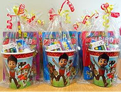 Paw Patrol Pre Filled Party Cup Gifts /Paw Patrol Pre Made Party Bags