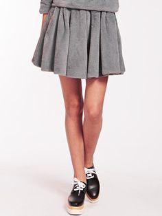 Dahlia Paloma Faux Fur Fluffy Skater Skirt | Dahlia