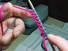 Twisted German Cast On. Very, very nice.. for knitting