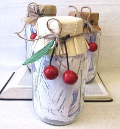 This is an adorable way to present someone with encouraging scripture. A Scripture Preserves Jar.