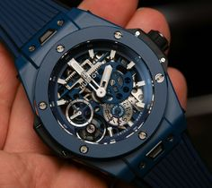 Hublot Ceramic Blue Hands-On and Why This Big Bang Is For Watch Movement Lovers Best Watches For Men, Luxury Watches For Men, Expensive Watches For Men, Stylish Watches, Cool Watches, Hublot Classic, Hublot Watches, Hand Watch, Dream Watches
