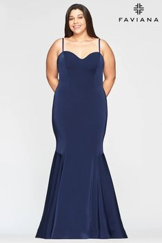 Faviana 9489 Long Fitted Plus Size Prom Dress | The Dress Outlet Plus Size Long Dresses, Plus Size Gowns, Short Dresses, Long Mermaid Dress, Mermaid Style, Perfect Prom Dress, Gorgeous Dress, Faviana Dresses, Long Evening Gowns