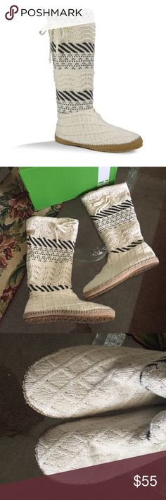 NEW SNUGGLE UP LX. Natural sweater Your snuggly cashmere blanket. Your softest cotton PJs. And now this. We got a little sock slipper wild and just couldn't stop—until we almost reached the knee. Comfy just went exponential. Sanuk Shoes Ankle Boots & Booties