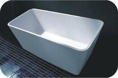 Fienza High Rise stone bath @ White Bathroom co Floor Preparation, Stone Basin, Cast Stone, Kitchen Tile, Solid Surface, How To Level Ground, Geometric Designs, White Bathroom