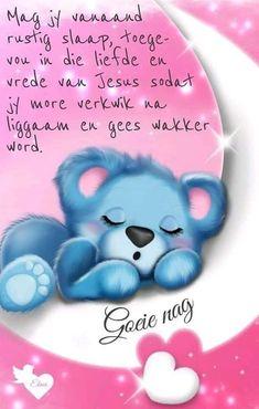 Afrikaanse Quotes, Goeie Nag, Sleep Tight, Elmo, Great Quotes, Good Night, Smurfs, Cards, Qoutes