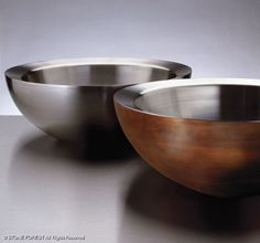 Copper/Stainless Beveled Vessel by Stone Forest