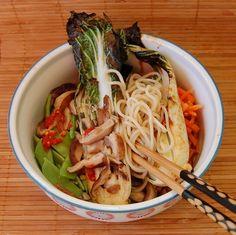 Grilled Hoisin Bok Choy Noodle Bowl