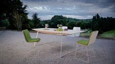 Bee Bamboo dining table and chairs
