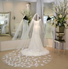 Cathedral Mantilla Veil Lace Cathedral Veil by CouturesbyLaura