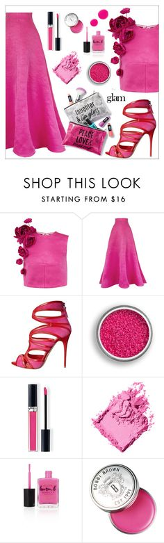 """""""Hot Pink"""" by amchavesj-1 ❤ liked on Polyvore featuring beauty, Esme Vie, Alexander McQueen, Christian Dior, Bobbi Brown Cosmetics, Lauren B. Beauty, Eve Snow, Naeem Khan and goglam"""