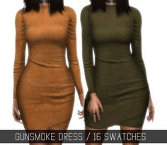 Simpliciaty - Gunsmoke Dress for The Sims 4