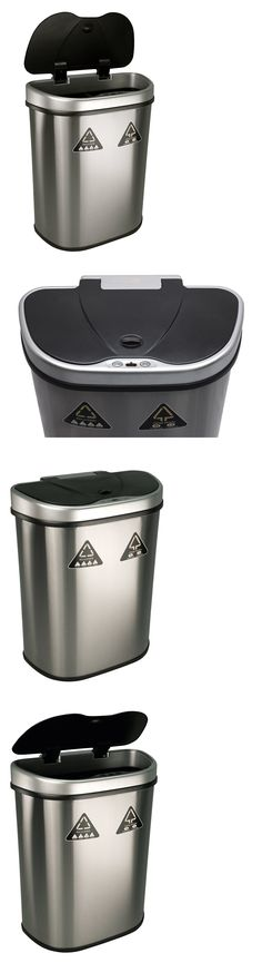 Trash Cans And Wastebaskets Awesome Trash Cans And Wastebaskets 20608 Kitchen Recycle Bin 30L Stainless Inspiration Design