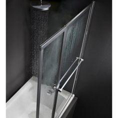 Pare-baignoire 2 volets Lm 104 Verre sécurité 3 mm, transparent | Leroy Merlin