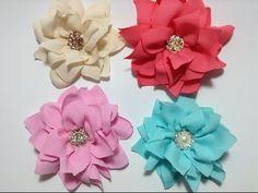 Flor vaporosa de tela de razo muy fácil VIDEO No. 213 - YouTube