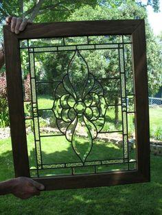 Beveled Leaded Glass Window | eBay