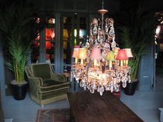 From the Hollister store decor...eclectic and fun yet touch of glamour?
