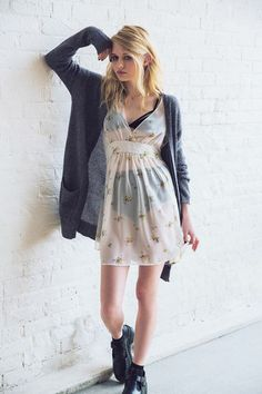 Betsey Johnson & Urban Outfitters Are Bringing The '90s Back #refinery29  http://www.refinery29.com/2014/04/66586/betsey-johnson-vintage-urban-outfitters#slide6  Betsey Johnson Vintage for Urban Outfitters Fiona Floral Chiffon Dress, $89, available at Urban Outfitters.
