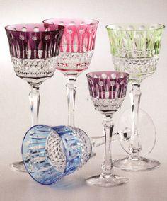 Faberge Crystal Goblets...love