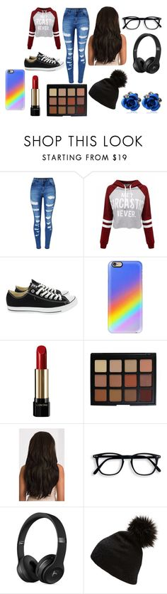 """""""Board To death"""" by emma-387 ❤ liked on Polyvore featuring WithChic, Converse, Casetify, Lancôme, Morphe and Witchery"""