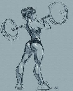 Illustration art sexy draw Charcoal Sketch fit booty digital pinup ...