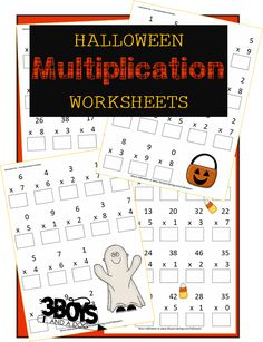 Halloween Printables: Multiplication Worksheets