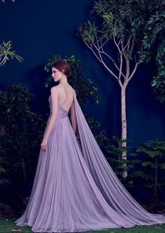 Lavender Gown With Pleated Tulle // Purple Wedding Dress Inspiration throughout Purple Wedding Dresses Purple Evening Gowns, Evening Dresses, Formal Dresses, 2016 Wedding Dresses, Princess Wedding Dresses, Dress Wedding, Bridal Dresses, Lavender Gown, Donia