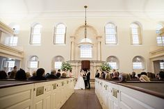 "Say ""I do!"" to an elegant, unique wedding at historic Old South Meeting House!  Congratulations to Daliena and Thomas! Photographer: Carly Yarbrow"