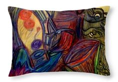 Vivid Throw Pillow featuring the painting The Flower by Stephanie Zelaya