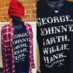 Country Music Lovers- this is for you!! Red plaid shirt- $32.95 Bell & May Country Love shirt- $32 C.C Beanie- 12.95 Kendra Scott Cami necklace- $60  #madisonsbluebrick #downtownhotsprings #bellandmay #madforplaid #ccbeanie #kendrascott