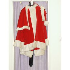 Men's Deluxe Father Christmas Santa Suit Costume Large £195.00