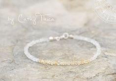 Armbänder - ॐ Klarheit ॐ Bergkristall/Citrin Armband 3,5mm - ein Designerstück von Cathy-Thica-Namaste bei DaWanda