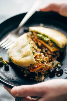 Arepas - three ingredient wonders! all you need is arepa flour, salt, and water, and all the fillings you could ever want, including carnitas, sweet potatoes, black beans, sauces, and more. THESE ARE SO GOOD! I could eat them forever.   pinchofyum.com