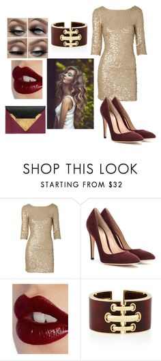"""""""Sans titre #110"""" by li-directioner on Polyvore featuring mode, Gianvito Rossi, Charlotte Tilbury et Dareen Hakim"""