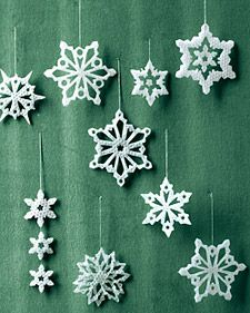 Wax Snowflakes by Martha Stewart
