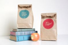 | how to: how to print on brown paper bags |