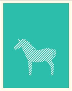 A lovely little zebra poster from the animal collection. avintageposter.com